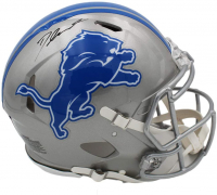 D'Andre Swift Signed Lions Full-Size Authentic On-Field Speed Helmet (Fanatics Hologram) at PristineAuction.com
