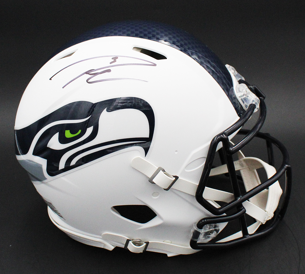 Russell Wilson Signed Seahawks Full-Size Authentic On-Field Matte White Speed Helmet (Fanatics Hologram) at PristineAuction.com