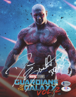 """Dave Bautista Signed """"Guardians of the Galaxy Vol. 2"""" 8x10 Photo Inscribed """"Drax"""" (Beckett COA & PSA COA) at PristineAuction.com"""