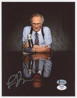 Larry King Signed 8x10 Photo (Beckett COA & PSA COA) at PristineAuction.com