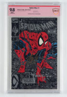 "Stan Lee & Todd McFarlane Signed 1990 ""Spider-Man"" Issue #1 Marvel Comic Book (CBCS Encapsulated - 9.8) at PristineAuction.com"