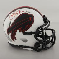 Cole Beasley Signed Bills Lunar Eclipse Alternate Speed Mini Helmet (Beckett Hologram) at PristineAuction.com