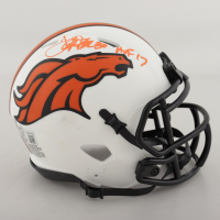 "Terrell Davis Signed Broncos Lunar Eclipse Alternate Speed Mini Helmet Inscribed ""HOF 17"" (Beckett Hologram) (See Description) at PristineAuction.com"
