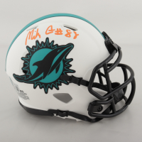 Mike Gesicki Signed Dolphins Lunar Eclipse Alternate Speed Mini Helmet (Beckett Hologram) (See Description) at PristineAuction.com