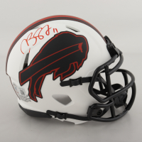 Cole Beasley Signed Bills Lunar Eclipse Alternate Speed Mini Helmet (Beckett Hologram) at PristineAuction.com