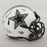 Roger Staubach Signed Cowboys Lunar Eclipse Alternate Speed Mini Helmet (Beckett Hologram) (See Description) at PristineAuction.com