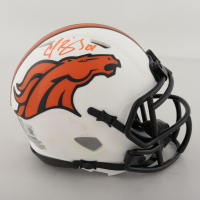 Champ Bailey Signed Broncos Lunar Eclipse Alternate Speed Mini Helmet (Beckett Hologram) (See Description) at PristineAuction.com