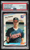 Tom Glavine Signed 1988 Fleer #539 RC (PSA Encapsulated) at PristineAuction.com