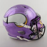 Adam Thielen & Stefon Diggs Signed Vikings Full-Size Chrome Speed Helmet with Mirrored Visor (TSE COA) at PristineAuction.com