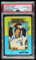 Whitey Ford Signed 1980-87 SSPC HOF #144 (PSA Encapsulated) at PristineAuction.com