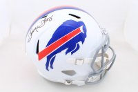 Thurman Thomas Signed Bills Full-Size Speed Helmet (Beckett COA) at PristineAuction.com