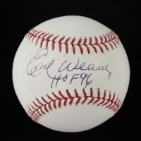 "Earl Weaver Signed OML Baseball Inscribed ""HOF 96"" (Beckett COA) (See Description) at PristineAuction.com"