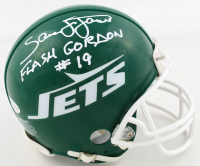 "Sam J. Jones Signed Jets Mini-Helmet Inscribed ""Flash Gordon"" (Beckett COA) at PristineAuction.com"