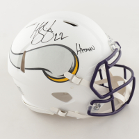 """Harrison Smith Signed Vikings Full-Size Authentic On-Field Matte White Speed Helmet Inscribed """"Hitman"""" (Beckett COA) at PristineAuction.com"""
