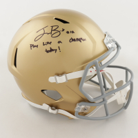 """Ian Book Signed Notre Dame Fighting Irish Full-Size Speed Helmet Inscribed """"Play Like A Chamption Today!"""" (Beckett COA) at PristineAuction.com"""