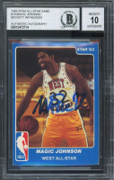 Magic Johnson Signed 1983 Star All-Star Game #18 (BGS Encapsulated) at PristineAuction.com