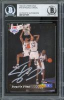 Shaquille O'Neal Signed 1992-93 Upper Deck #1B TRADE (BGS Encapsulated) at PristineAuction.com