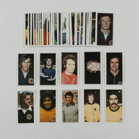 """1974 Geo. Basset """"World Cup Stars"""" Complete Set of (50) Cigarette Cards With #19 Gerd Muller, #23 Kenny Dalglish, #42 Franz Beckenbauer, #46 Johann Cruyff, #30 Dino Zoff at PristineAuction.com"""