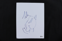 Tim Allen Signed 8x10 Page With Hand-Drawn Sketch (Beckett COA) (See Description) at PristineAuction.com