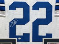 Emmitt Smith Signed 34.5x42.5 Custom Framed Jersey (Beckett COA) at PristineAuction.com