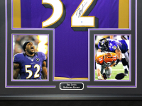Ray Lewis Signed 34.5x42.5 Custom Framed Jersey (Beckett COA) at PristineAuction.com