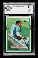Barry Sanders 1989 Topps Traded #83T RC (BCCG 10) at PristineAuction.com