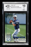 Peyton Manning 1998 Leaf Rookies and Stars #233 RC (BCCG 10) at PristineAuction.com