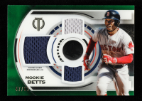 Mookie Betts 2019 Topps Tribute Triple Relics Green #TTRMB at PristineAuction.com
