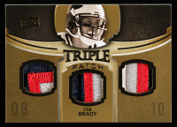 Tom Brady 2010 Exquisite Collection Single Player Triple Patch #ETPTB at PristineAuction.com