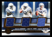 Marvin Harrison / Edgerrin James / Peyton Manning 2001 Pacific Impressions Triple Threads #21 at PristineAuction.com