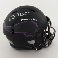 """Adam Thielen Signed Vikings Full-Size Authentic On-Field Eclipse Alternate Helmet Inscribed """"Made in MN"""" (Beckett COA) (See Description) at PristineAuction.com"""