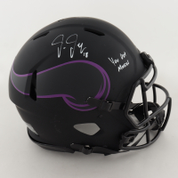 """Justin Jefferson Signed Vikings Full-Size Authentic On-Field Eclipse Alternate Helmet Inscribed """"You Got Mossed"""" (Beckett COA) (See Description) at PristineAuction.com"""
