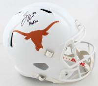 "Sam Ehlinger Signed Texas Longhorns Full-Size Speed Helmet Inscribed ""Hook Em"" (Beckett COA) at PristineAuction.com"