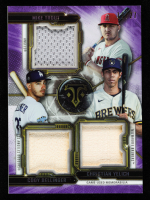 Mike Trout / Cody Bellinger / Christian Yelich 2020 Topps Triple Threads Relic Combos Amethyst #RCCTBY at PristineAuction.com