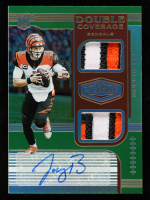 Joe Burrow 2020 Panini Plates and Patches Double Coverage Autographs Green #1 at PristineAuction.com