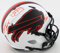 Jim Kelly, Thurman Thomas & Andre Reed Signed Bills Full-Size Lunar Eclipse Alternate Speed Helmet (JSA COA) at PristineAuction.com