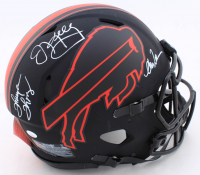 Jim Kelly, Thurman Thomas & Andre Reed Signed Bills Full-Size Eclipse Alternate Authentic On-Field Speed Helmet (JSA COA) (See Description) at PristineAuction.com