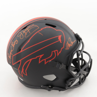 Jim Kelly, Thurman Thomas & Andre Reed Signed Bills Full-Size Eclipse Alternate Speed Helmet (Beckett COA) (See Description) at PristineAuction.com
