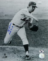 """Skip Lockwood Signed Mets 8x10 Photo Inscribed """"Mets 74 - 80"""" (YSMS COA) at PristineAuction.com"""