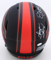 Jim Kelly, Thurman Thomas, & Andre Reed Signed Bills Full-Size Eclipse Alternate Authentic On-Field Speed Helmet (JSA COA) at PristineAuction.com