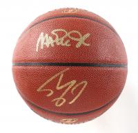 Magic Johnson & Shaquille O'Neal Signed NBA Basketball (Beckett COA) at PristineAuction.com