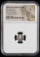 Thracian Chersonesus 4th Century B.C. AR Hemidrachm Ancient Greek Silver Coin - obv Lion Forepart, rv Bipartite Incuse (NGC Fine) at PristineAuction.com