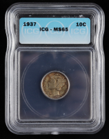 1937 Mercury Silver Dime (ICG MS65) at PristineAuction.com