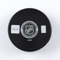 "Felix Potvin Signed Maple Leafs Logo Hockey Puck Inscribed ""The Cat"" (COJO COA) at PristineAuction.com"