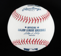 Justin Upton Signed OML Baseball (MLB Hologram) at PristineAuction.com