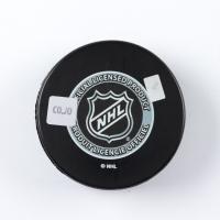 "Bobby Baun Signed Maple Leafs Logo Hockey Puck Inscribed ""S.C.C. 1962, 63, 64 & 67"" (COJO COA) at PristineAuction.com"
