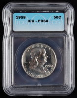 1958 Franklin Silver Half Dollar (ICG PR64) at PristineAuction.com