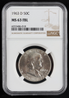 1963-D Franklin Silver Half Dollar (NGC MS63 Full Bell Line) at PristineAuction.com