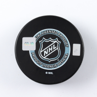 "Elias Lindholm Signed 2013 NHL Draft Logo Hockey Puck Inscribed ""6 Pick"" (COJO COA) at PristineAuction.com"