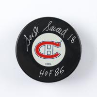 "Serge Savard Signed Canadiens Logo Hockey Puck Inscribed ""HOF 86"" (COJO COA) at PristineAuction.com"